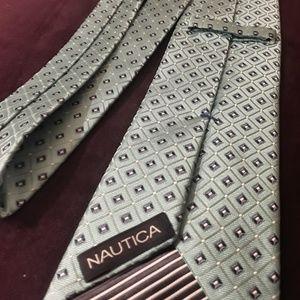 Nautica Blue Diamond Men's 59 In Tie 100% Silk